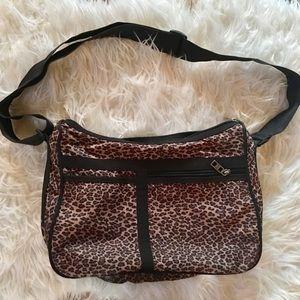 Lesportsac mondo animal print nylon bag purse